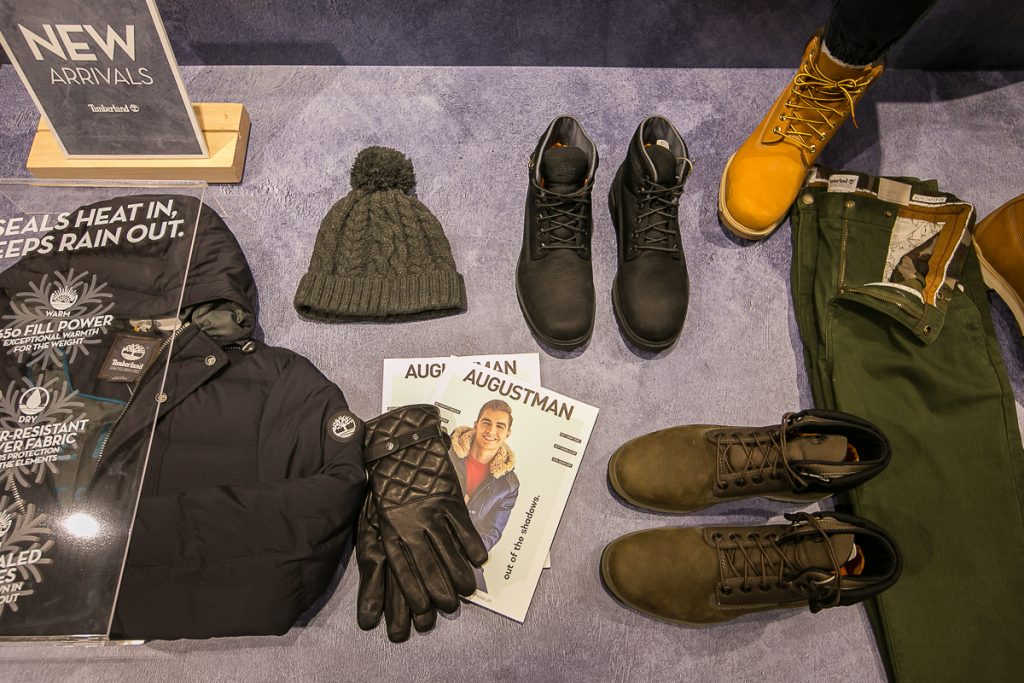 An array of Timberland's products