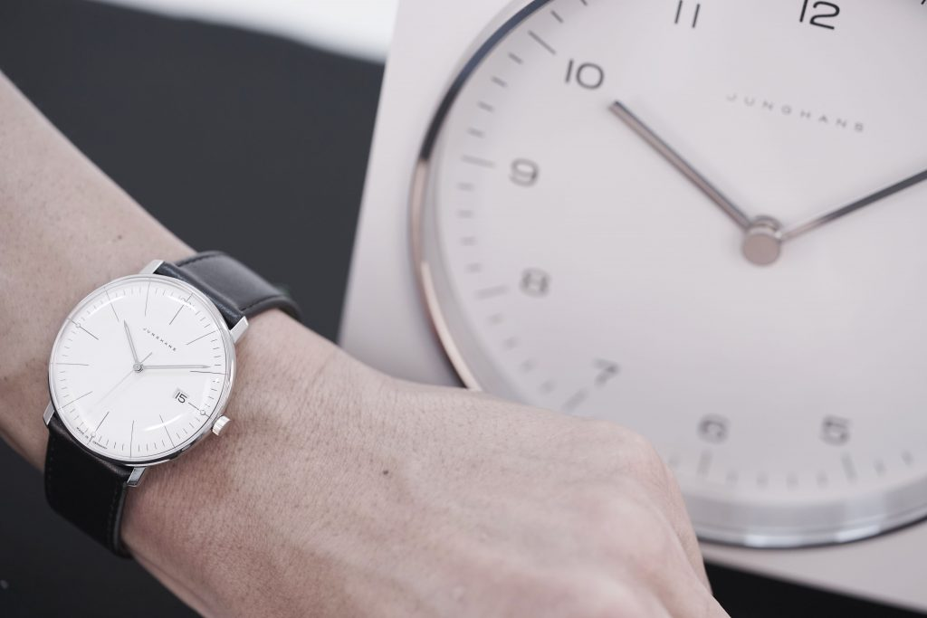 Junghans Max Bill timepiece on wrist