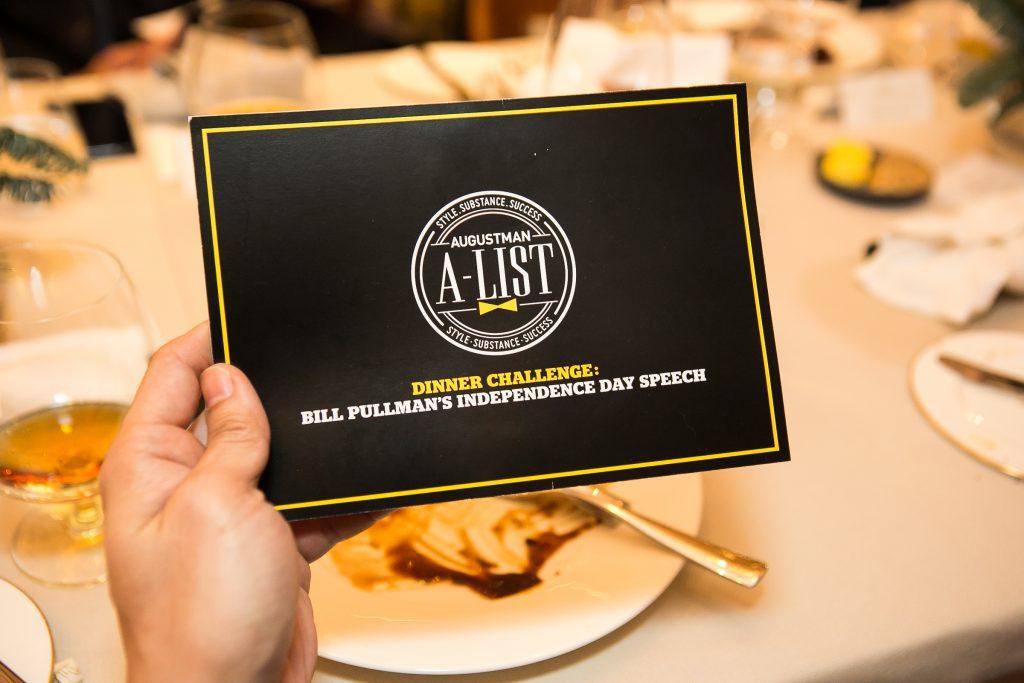 2017 A-List Dinner and Speech Challenge