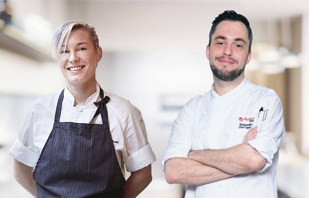 Chenf Emma Bengtsson and chef Benjamin Halat