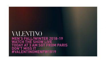 Catch Valentino Fall/Winter Menswear 2018's Live Stream Here