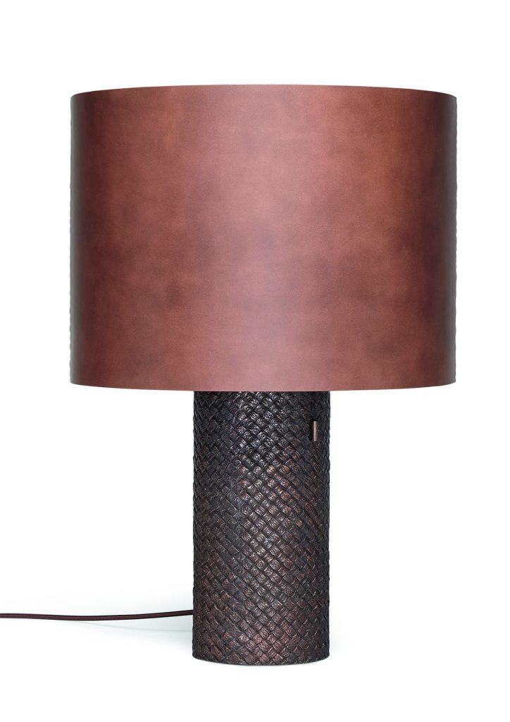 Bottega Veneta brushed bronze OVM table lamp