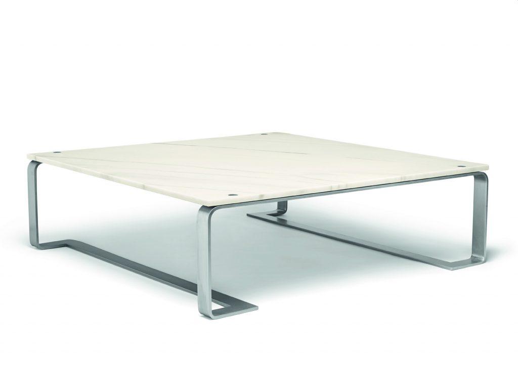 Bottega Veneta white marble floating coffee table