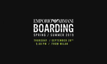 Get ready for boarding with Emporio Armani
