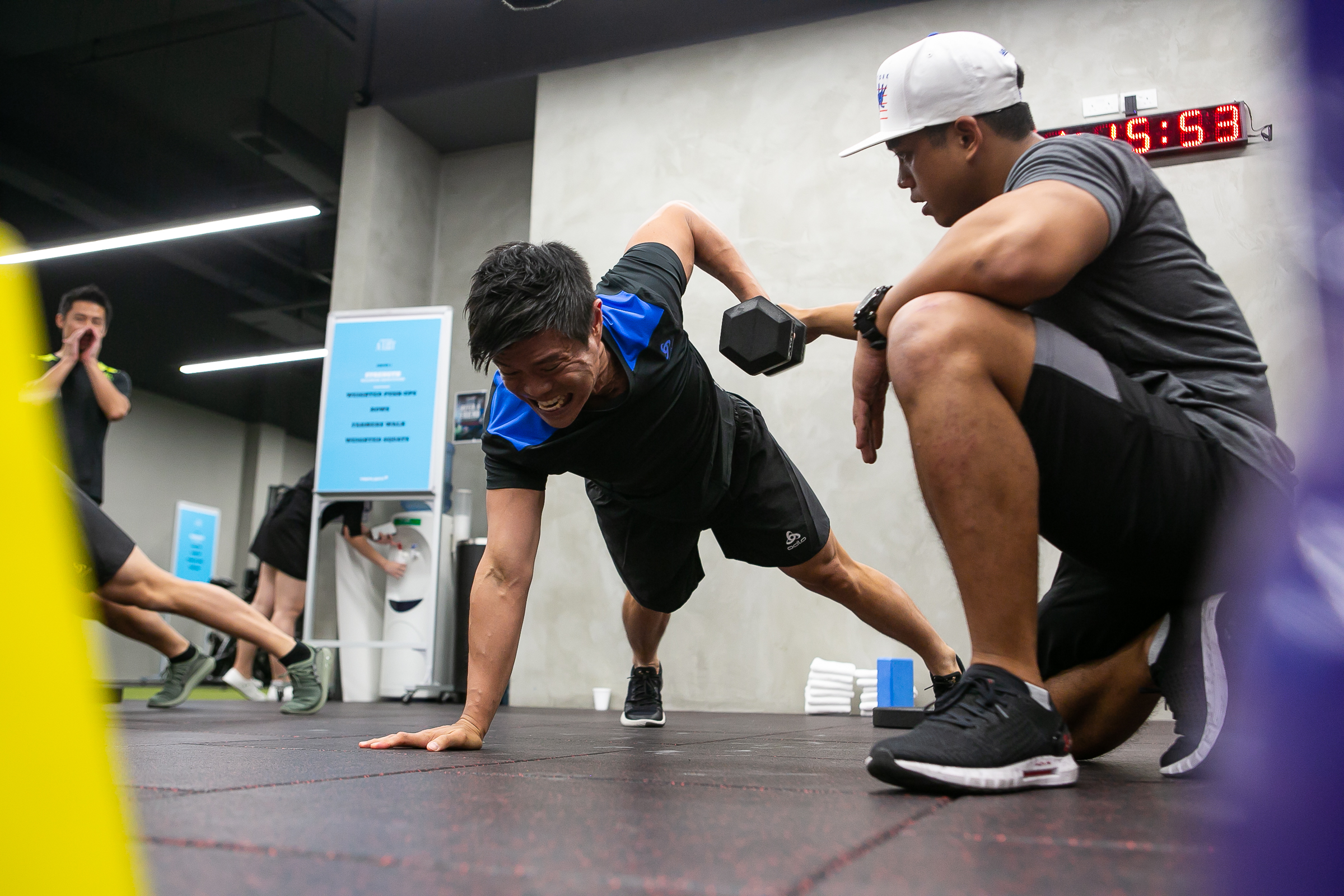 One of the A-Listers, Goh Yong Yau, pushing himself to the limit during The Physical Push with TripleFit