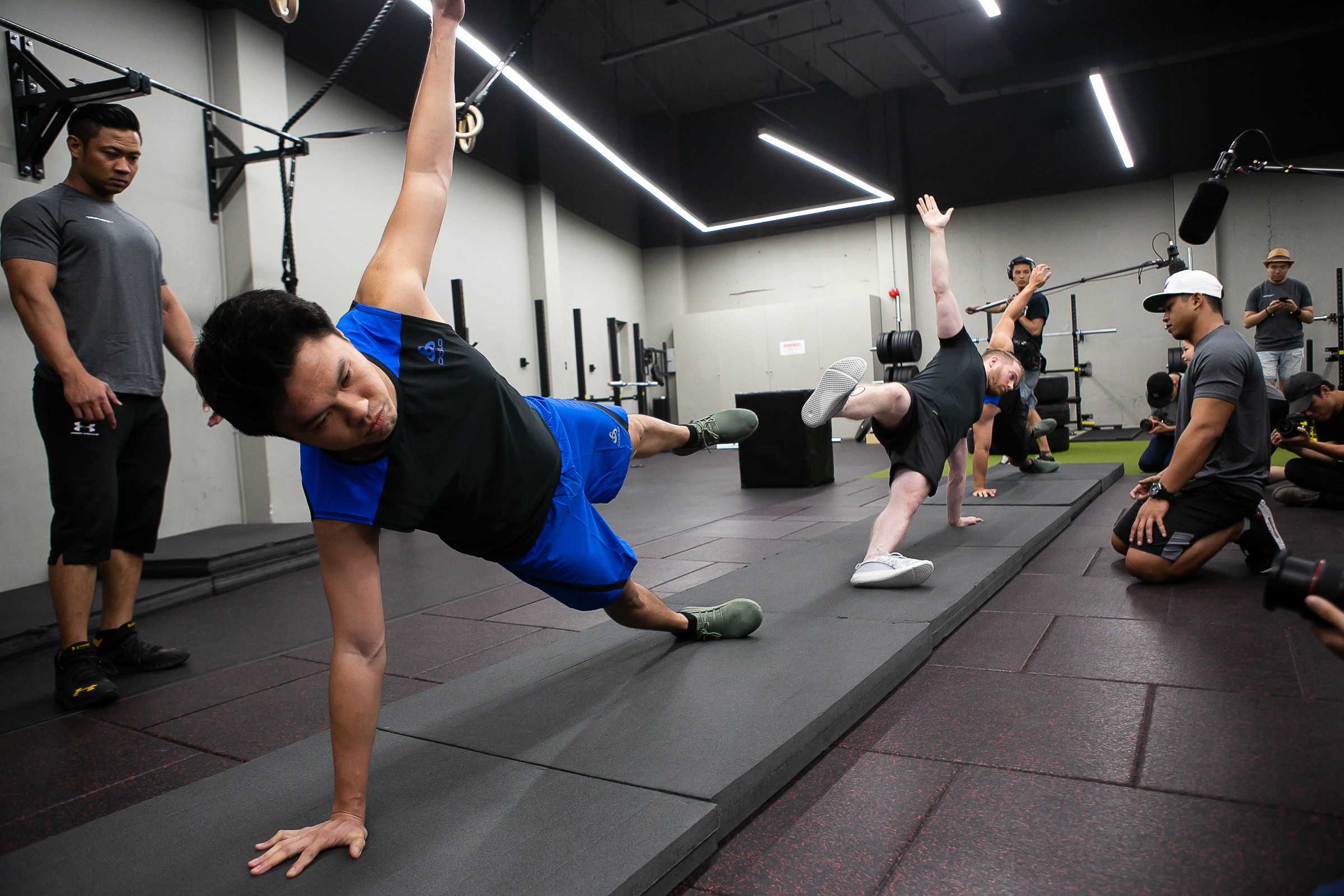 2018 A-Lister John Lim tries his hardest to maintain the star position in The Physical Push with TripleFit