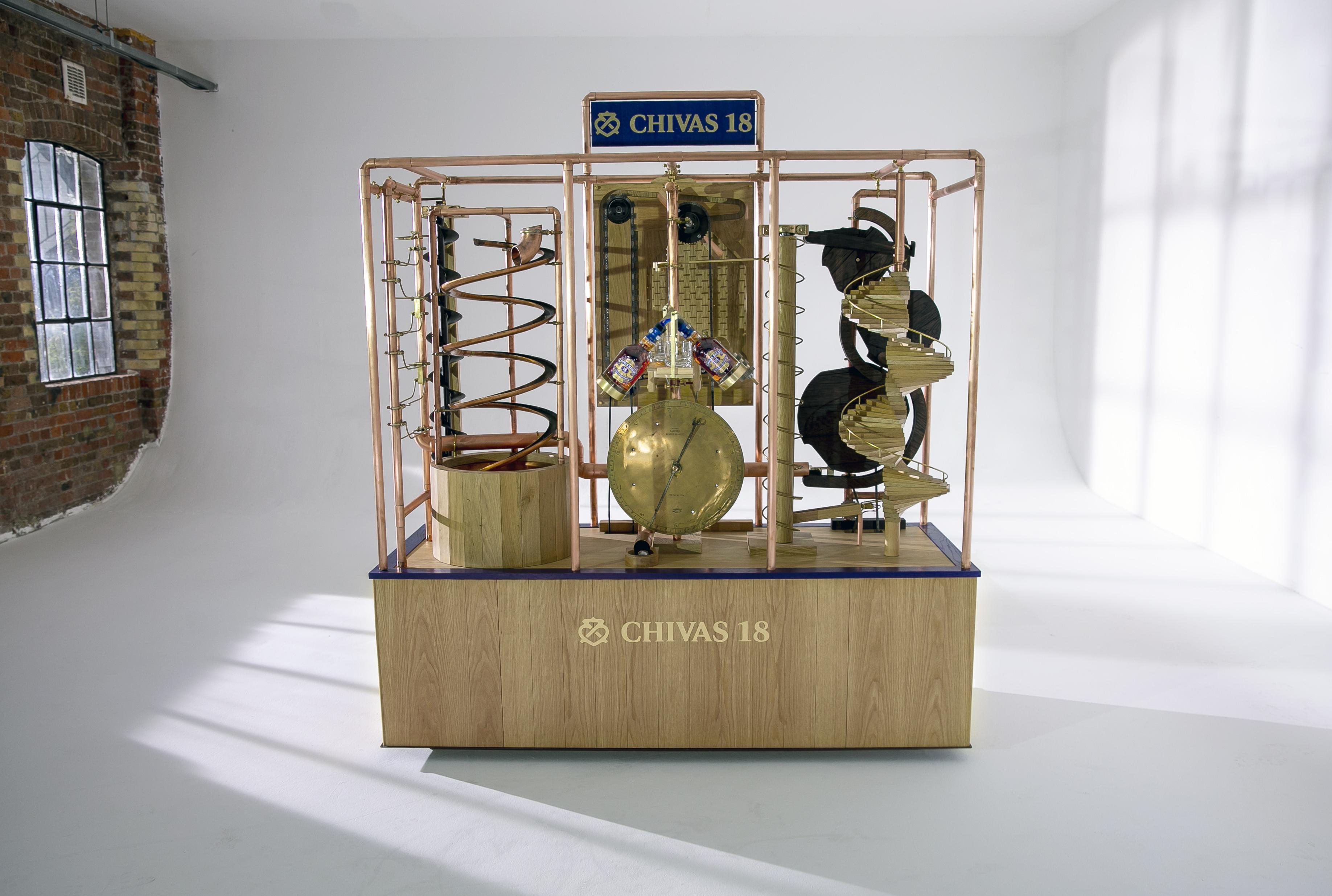 The Rube Goldberg-inspired whisky pouring machine by Chivas