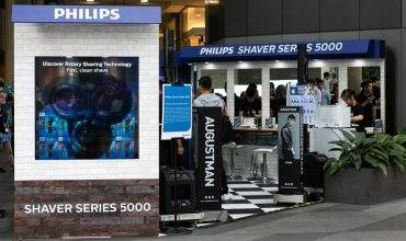 This was what happened at the Philips Series 5000 shaver pop-up showcase