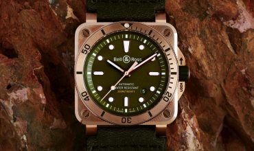 Check out the handsome limited-ed BR03-92 Diver Bronze watch from Bell & Ross
