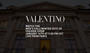 Watch this space for Valentino Men's FW19-20 Livestream