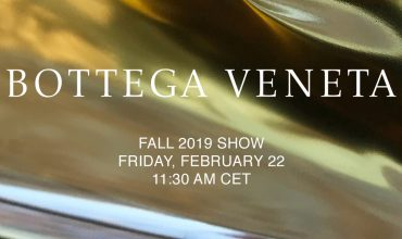 Watch here: The Bottega Veneta Fall 2019 show live from Milan