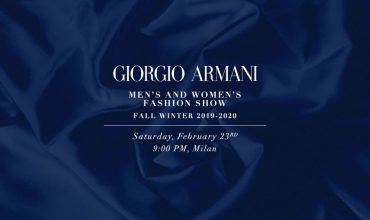 Watch here: The Giorgio Armani FW19 show live from Milan