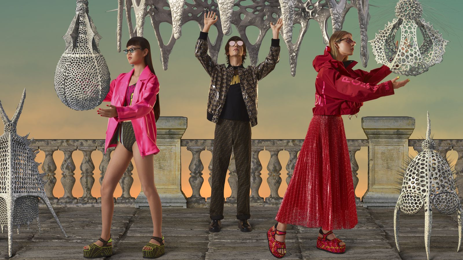 69535da339d8 The results? The aptly titled Gentle Fendi capsule collection, which  combines Fendi's elegance with Gentle Monster's quirky (and often volatile)  aesthetics.
