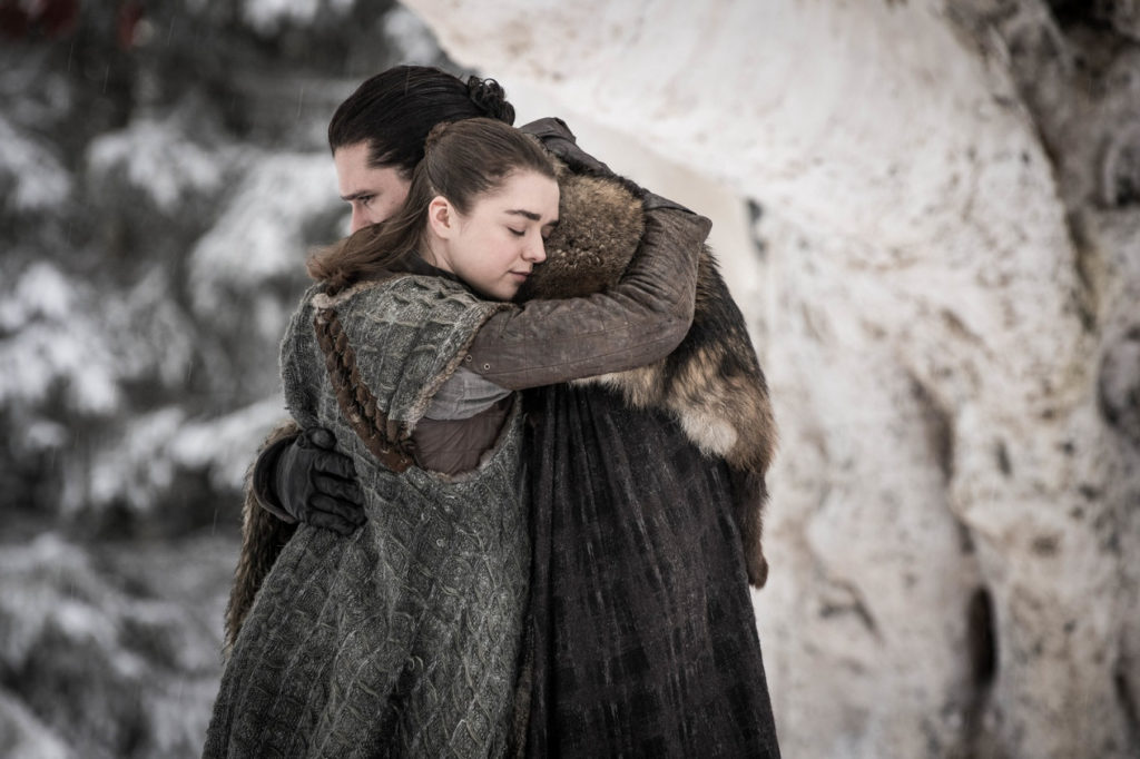 Jon and Arya finally reunited