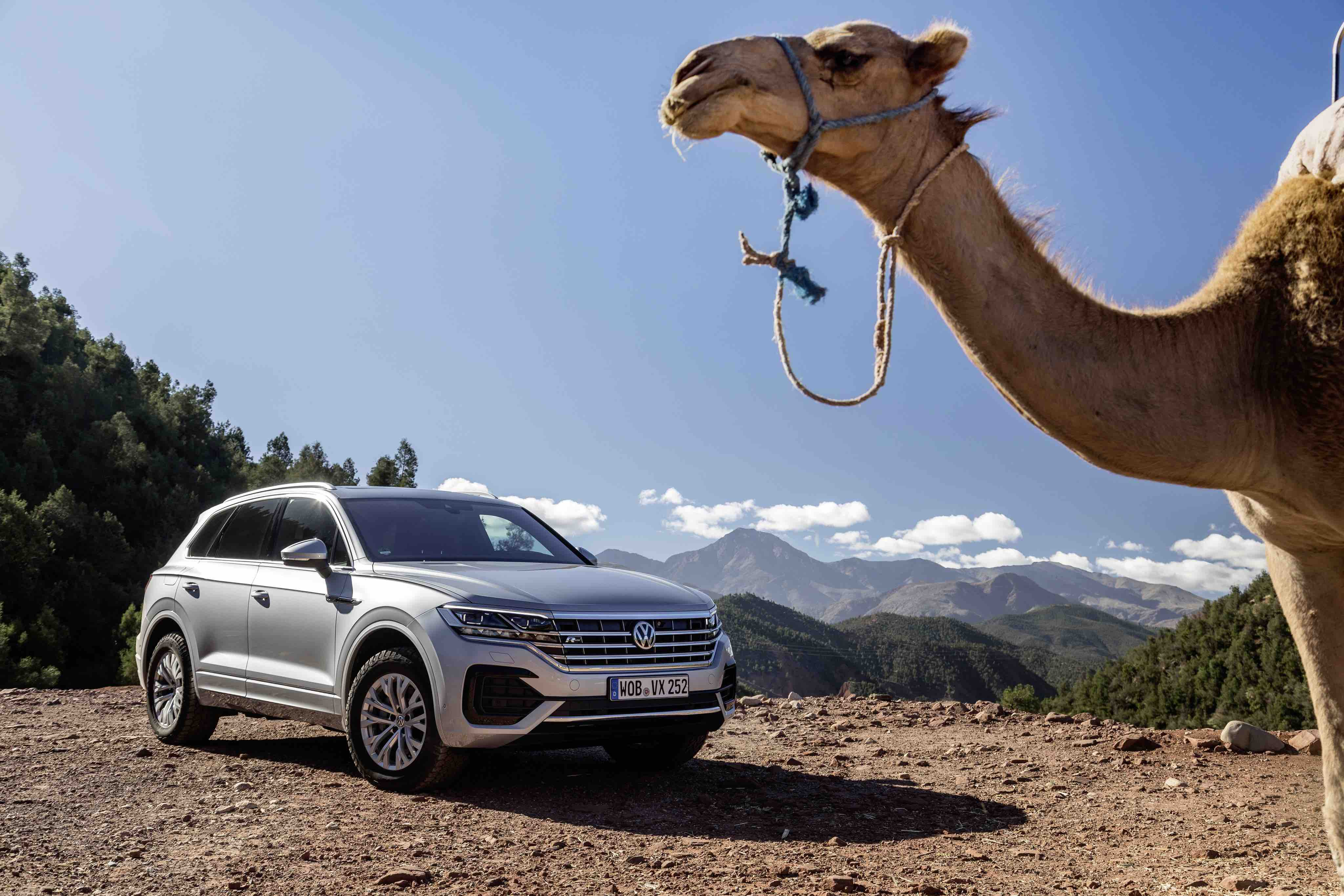 The Volkswagen Touareg R-Line has all-wheel steering so that you can conquer the roughest roads