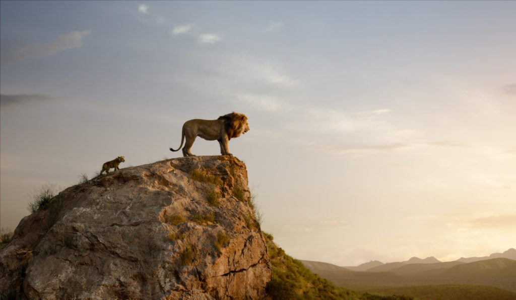 "THE LION KING - Featuring the voices of JD McCrary as Young Simba, and James Earl Jones as Mufasa, Disney's ""The Lion King"" is directed by Jon Favreau. In theaters July 19, 2019. © 2019 Disney Enterprises, Inc. All Rights Reserved."
