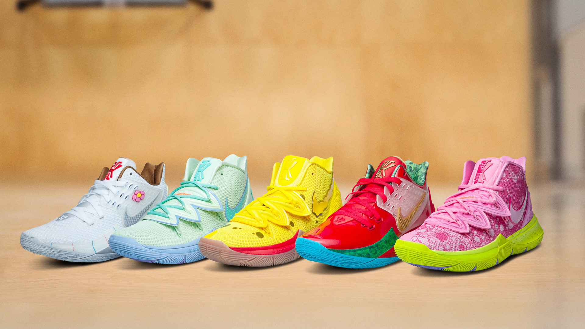 premium selection d3102 a727b Nike's latest Kyrie 5 brings Spongebob and his pals out of ...
