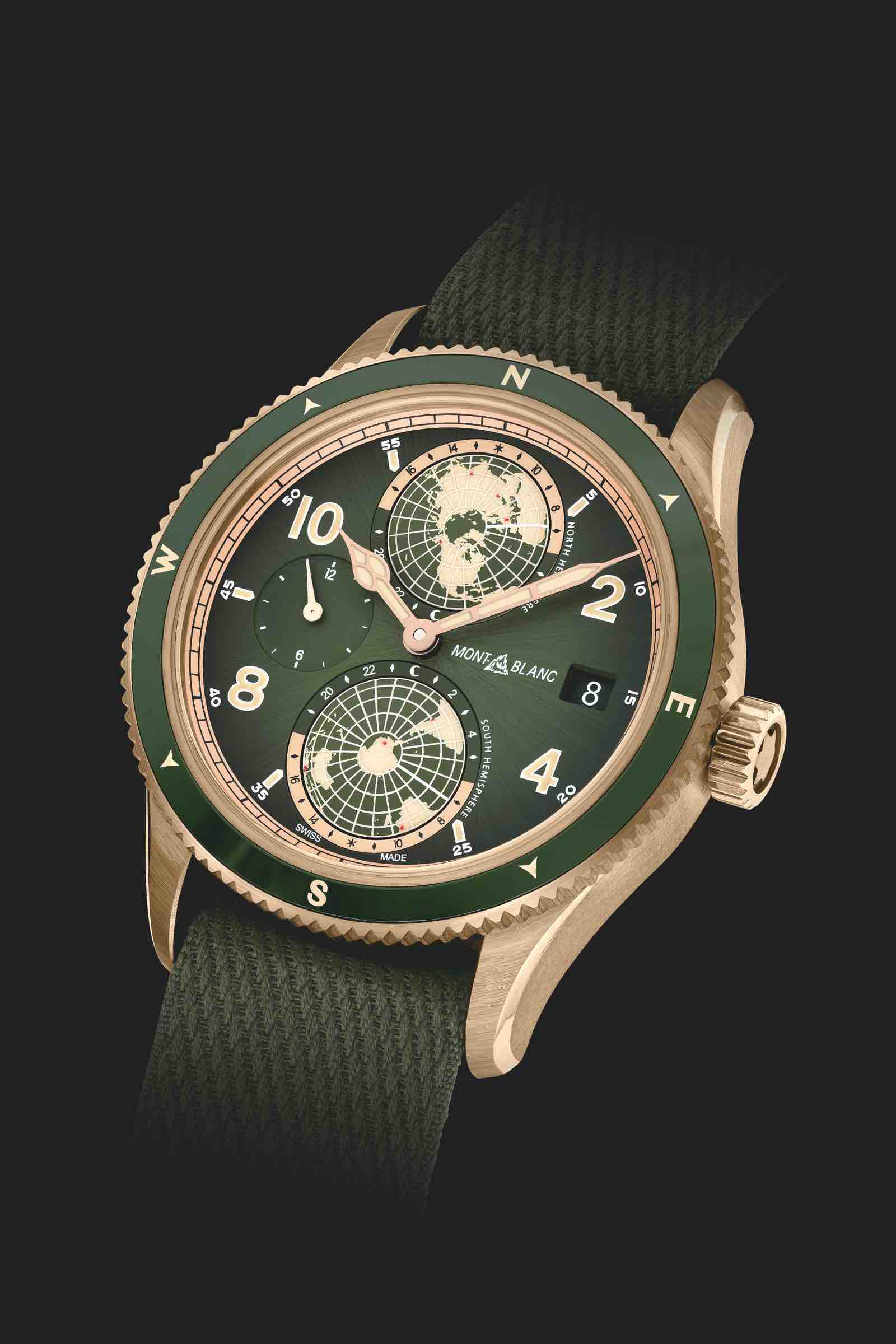 The new Montblanc Geosphere in green