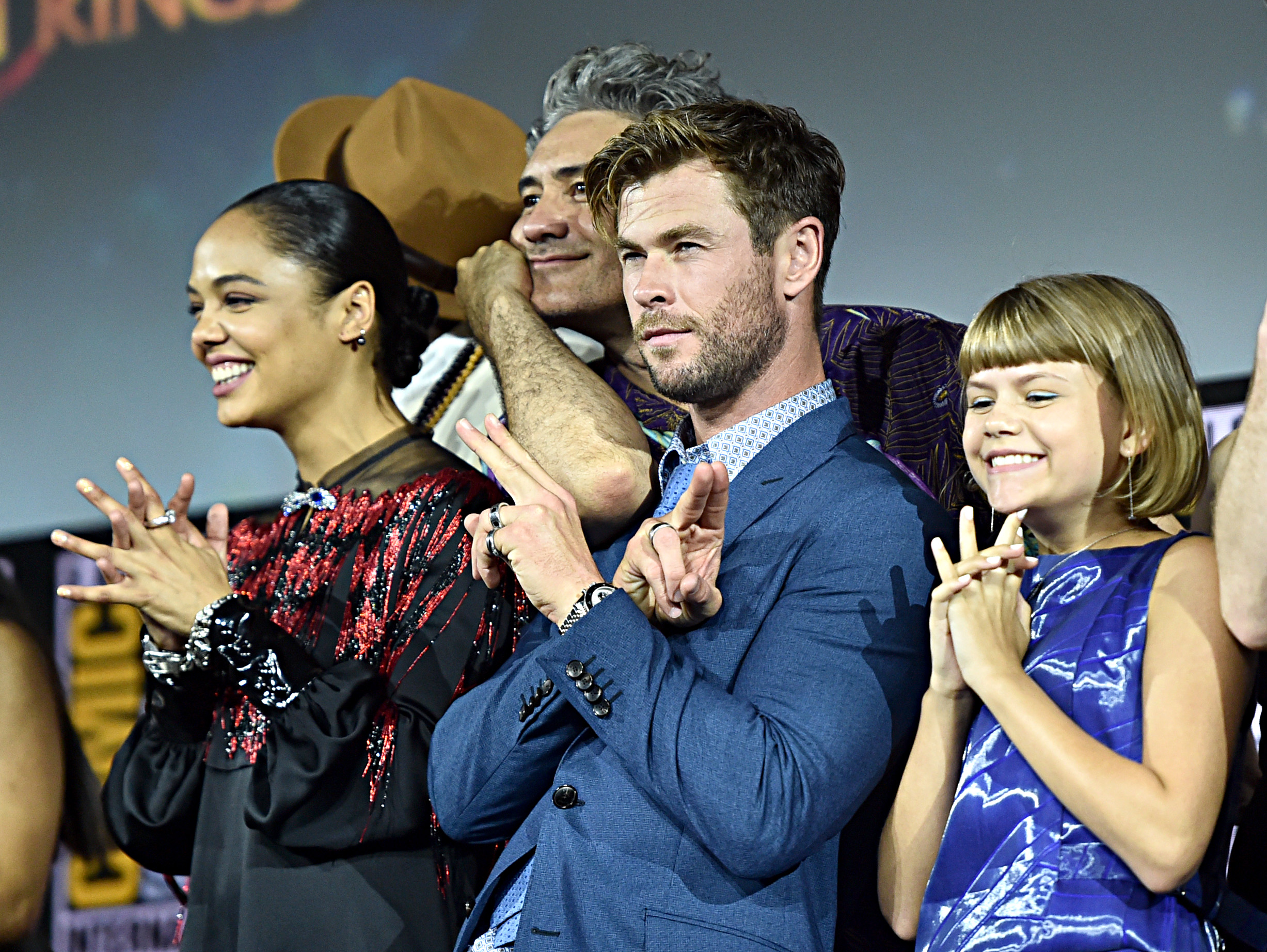 Love and Thunder's cast at San Diego Comic-Con International 2019