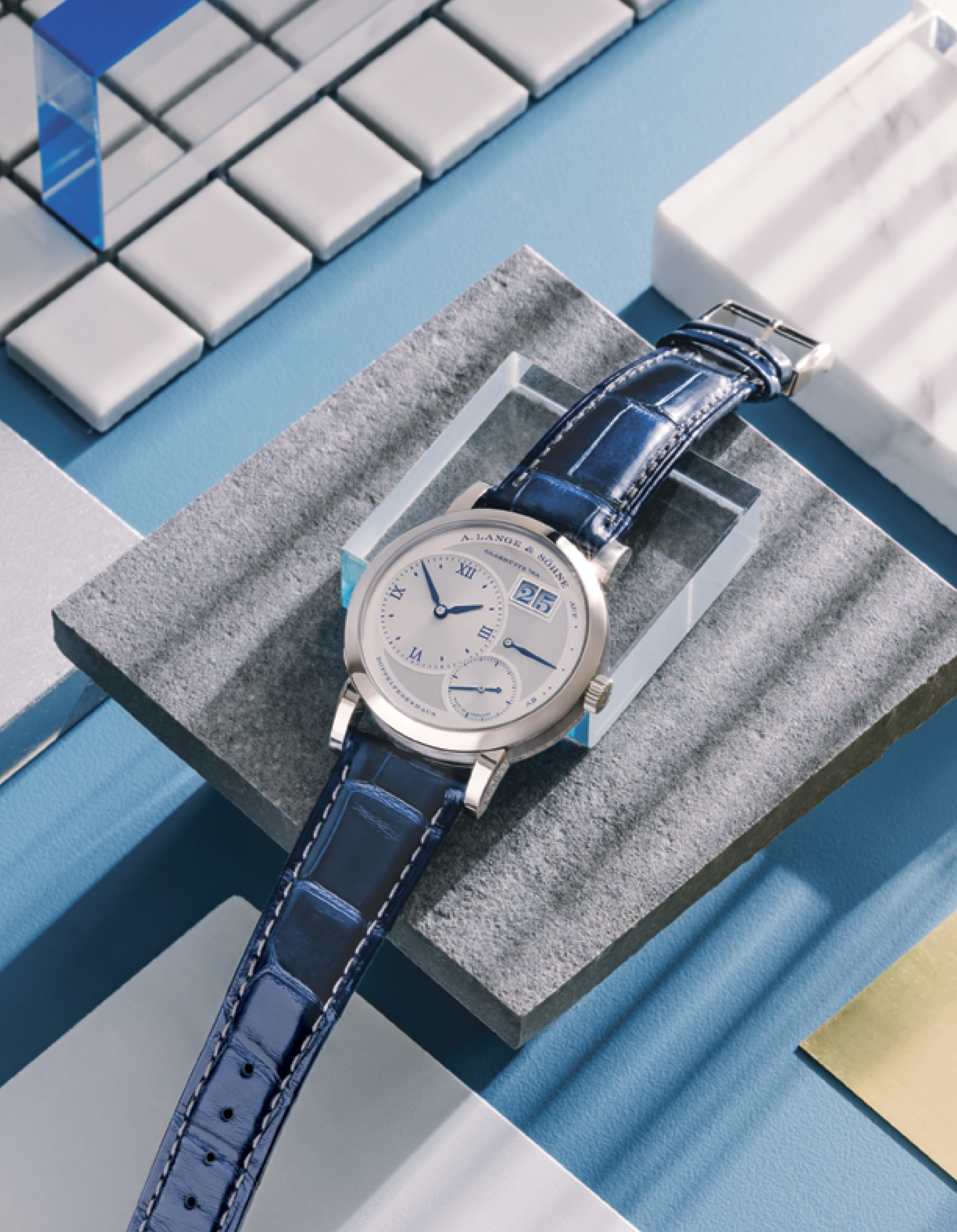 """A. Lange & Söhne Lange 1 """"25th Anniversary"""" in white gold with leather strap"""