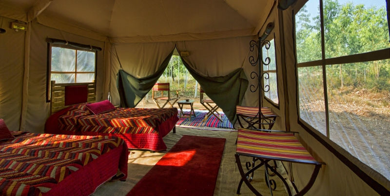 Stay In A Kaafila Camp while on an AndBeyond adventure in India, perfect for a vacation to recharge and refresh