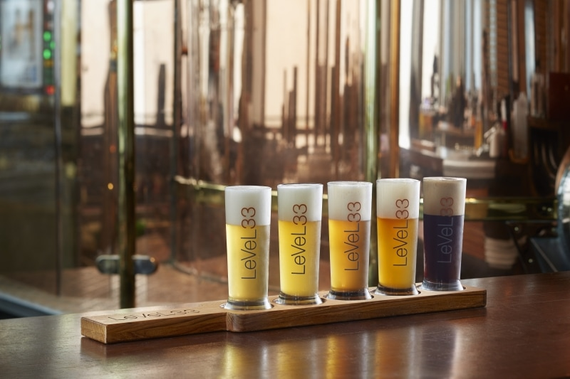 Enjoy craft beers with a view at Level33
