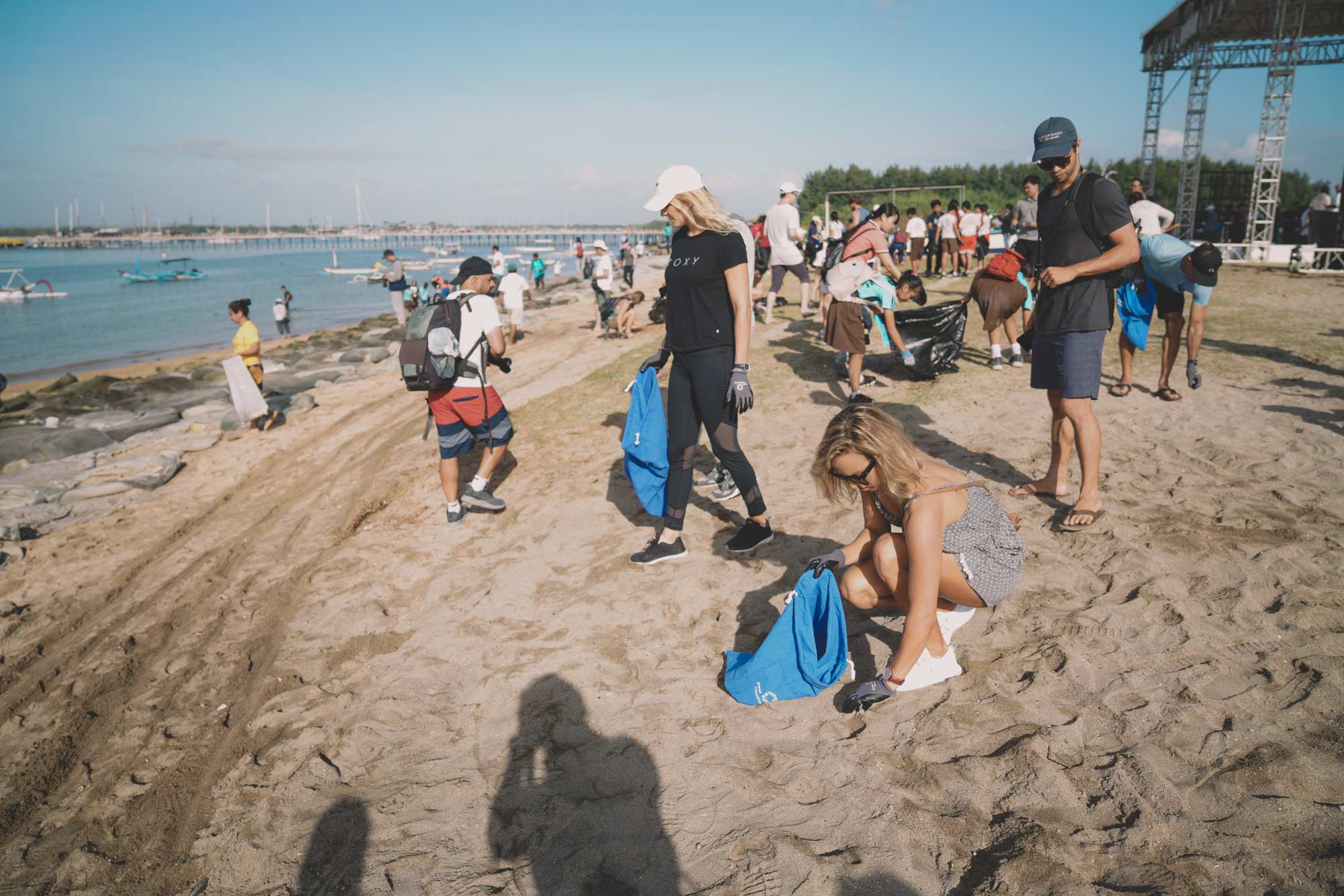 Surfing and ocean conservancy bring people from all walks of life together to play their part in cleaning up the beach