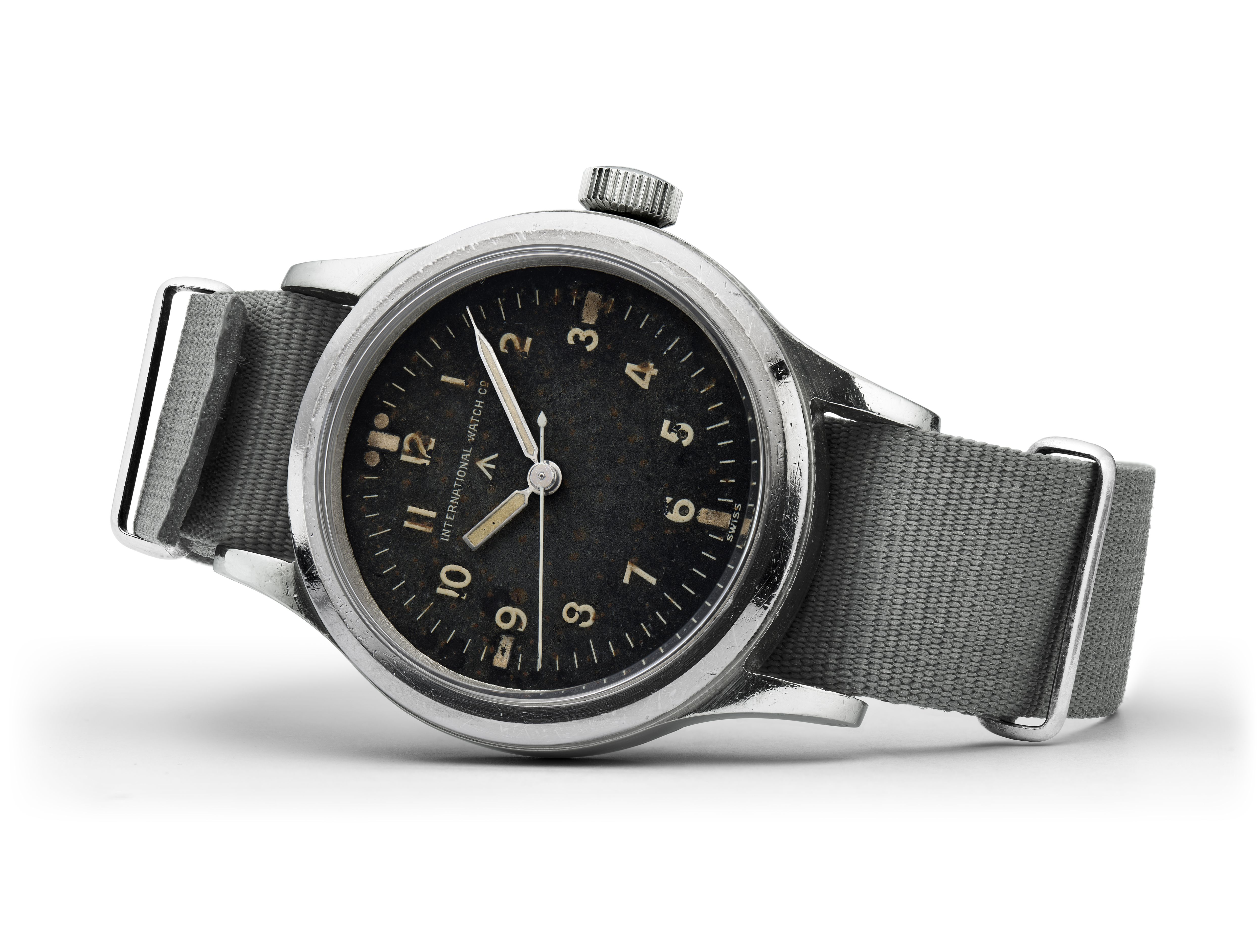 "A vintage IWC Pilot watch from 1948 with a Type A ""Flieger"" dial"