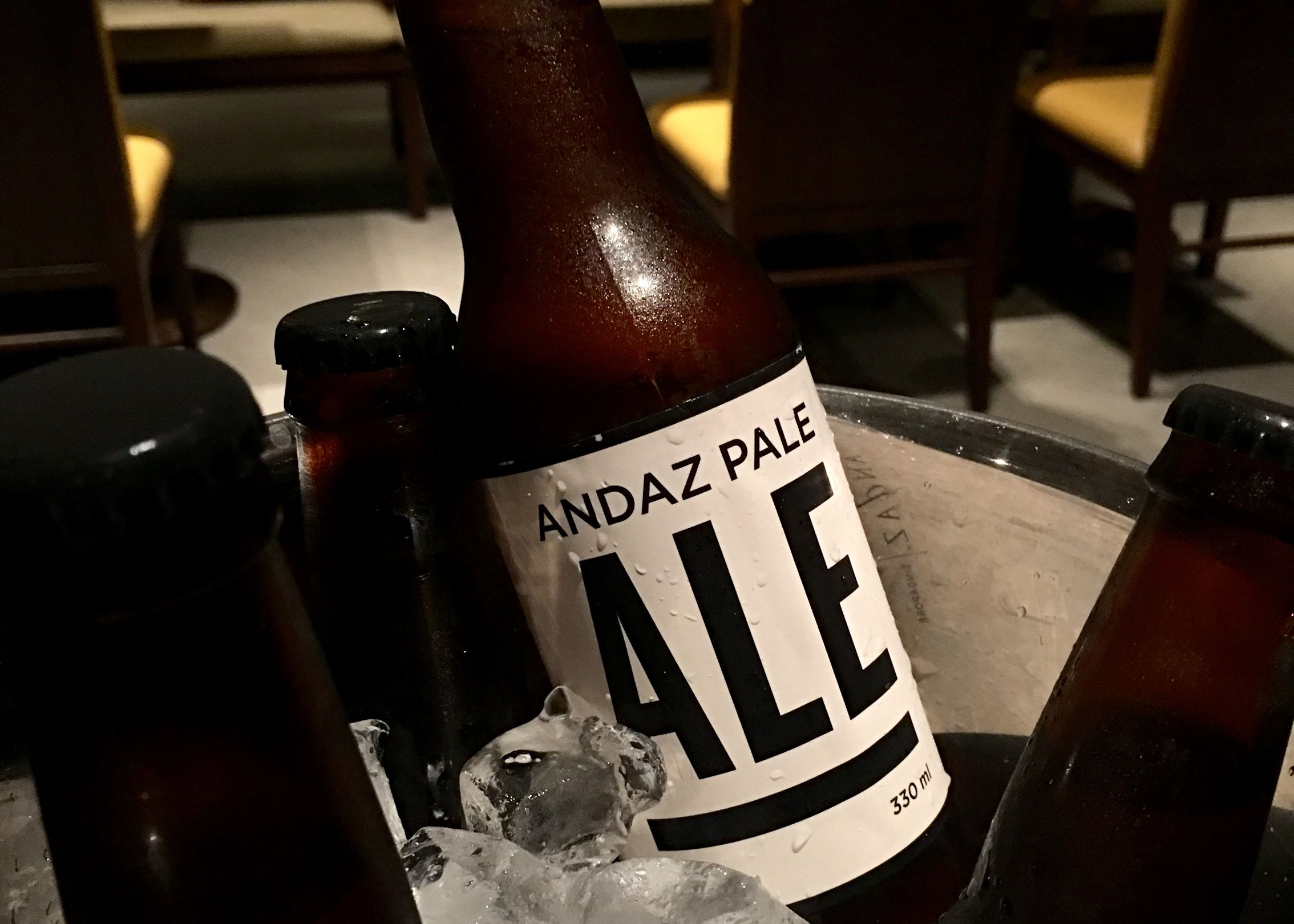 Auntie's Wok and Steam's mala: A bucket of four Andaz Pale Ales.