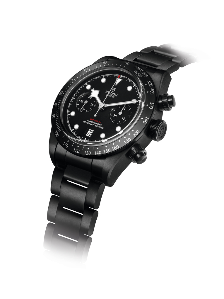 The Black Bay Chrono Dark is given PVC treatment for added resistance against corrosion and scratches