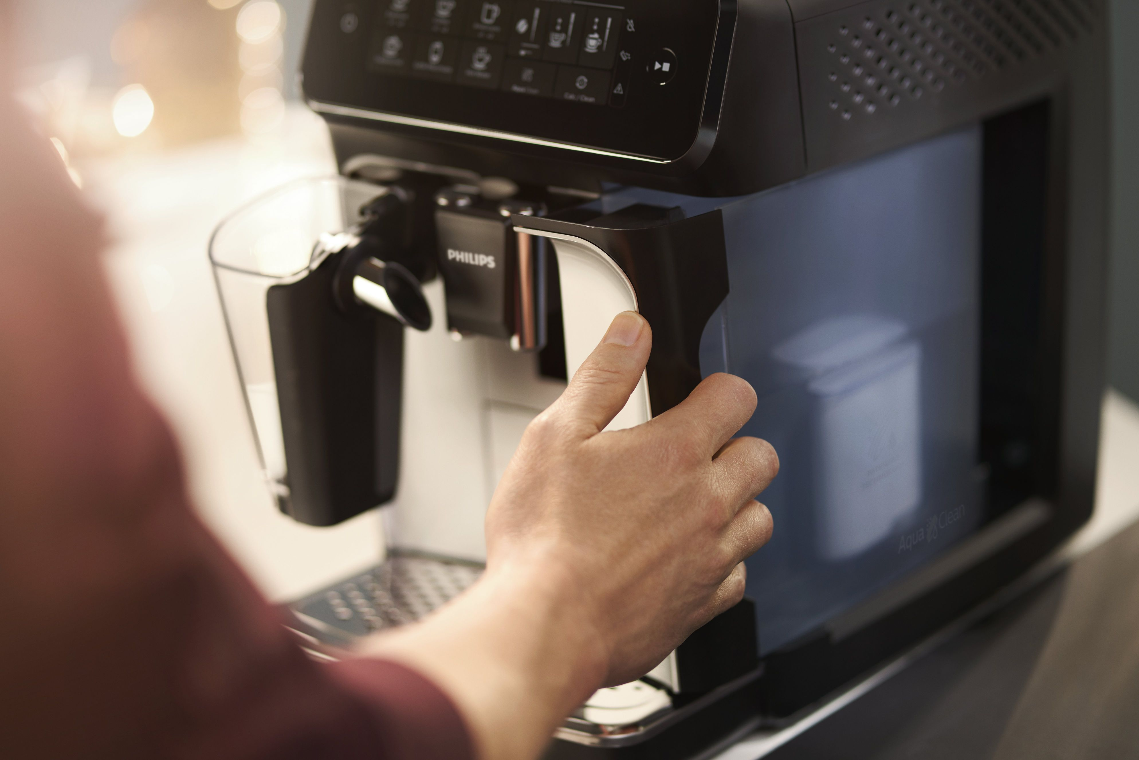 Philips' 3200 series LatteGo: Its sliding-out water tank makes LatteGo easy to use and maintain.