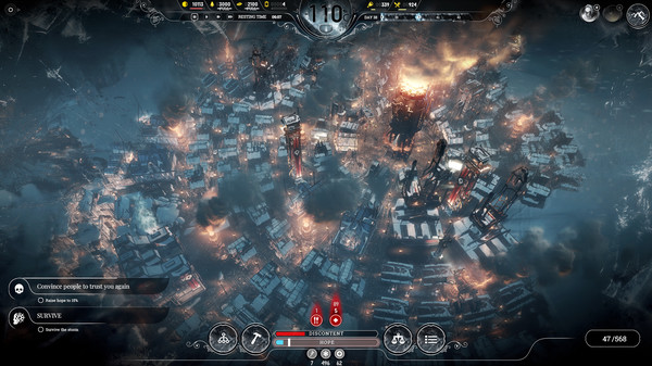 Indie video games: an overview of the city that you'll be trying to built in Frostpunk