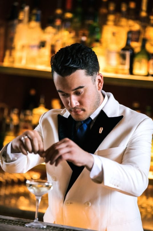 Jesse Vida, head bartender at Atlas in Singapore, one of the world's best bars