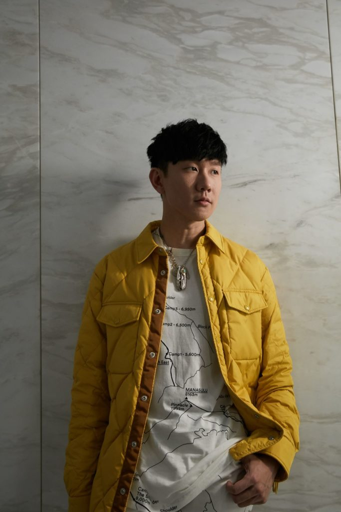 JJ Lin in Moncler 1952 at the Moncler 1952 collection launch in Singapore