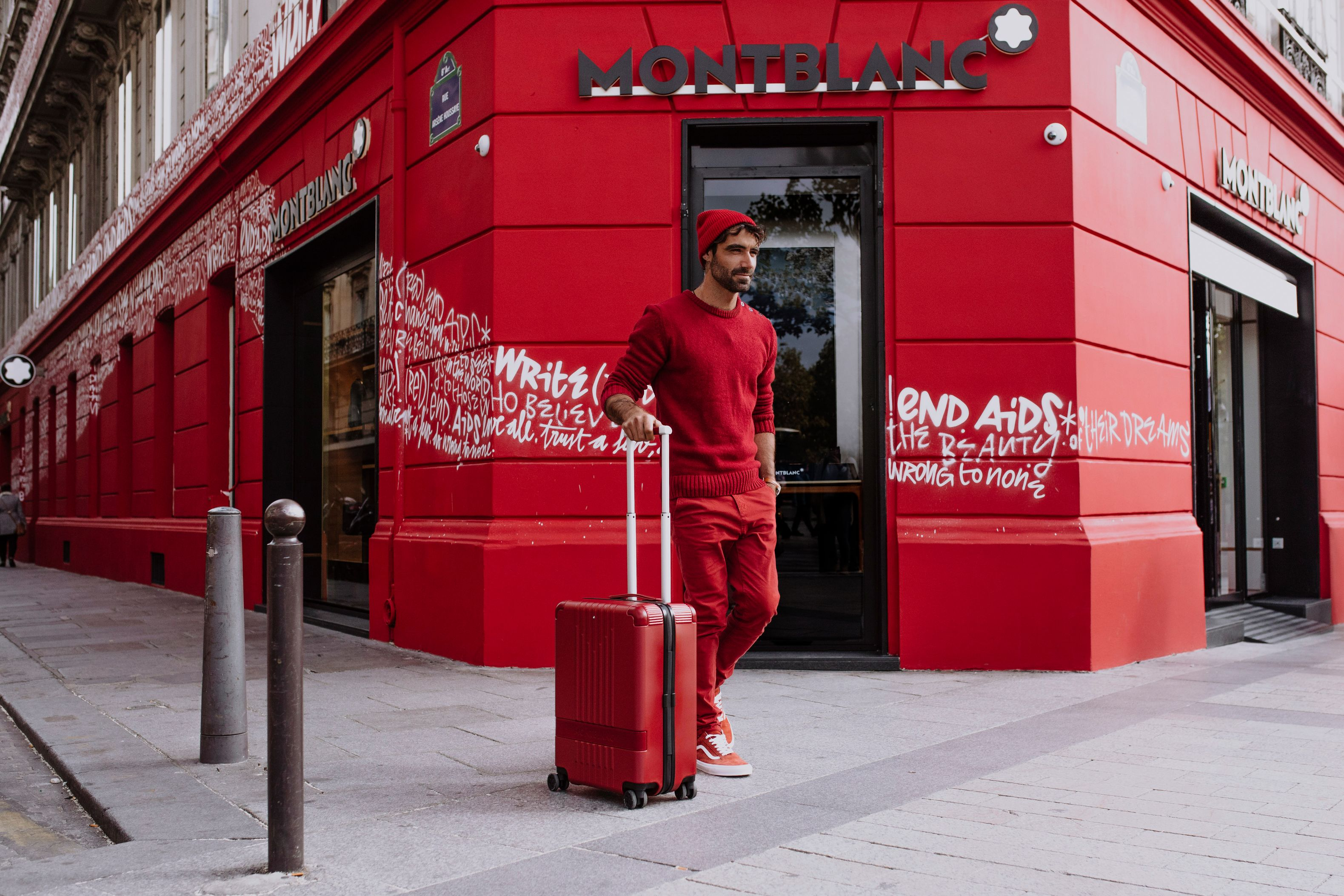 (Montblanc M) RED travel luggage
