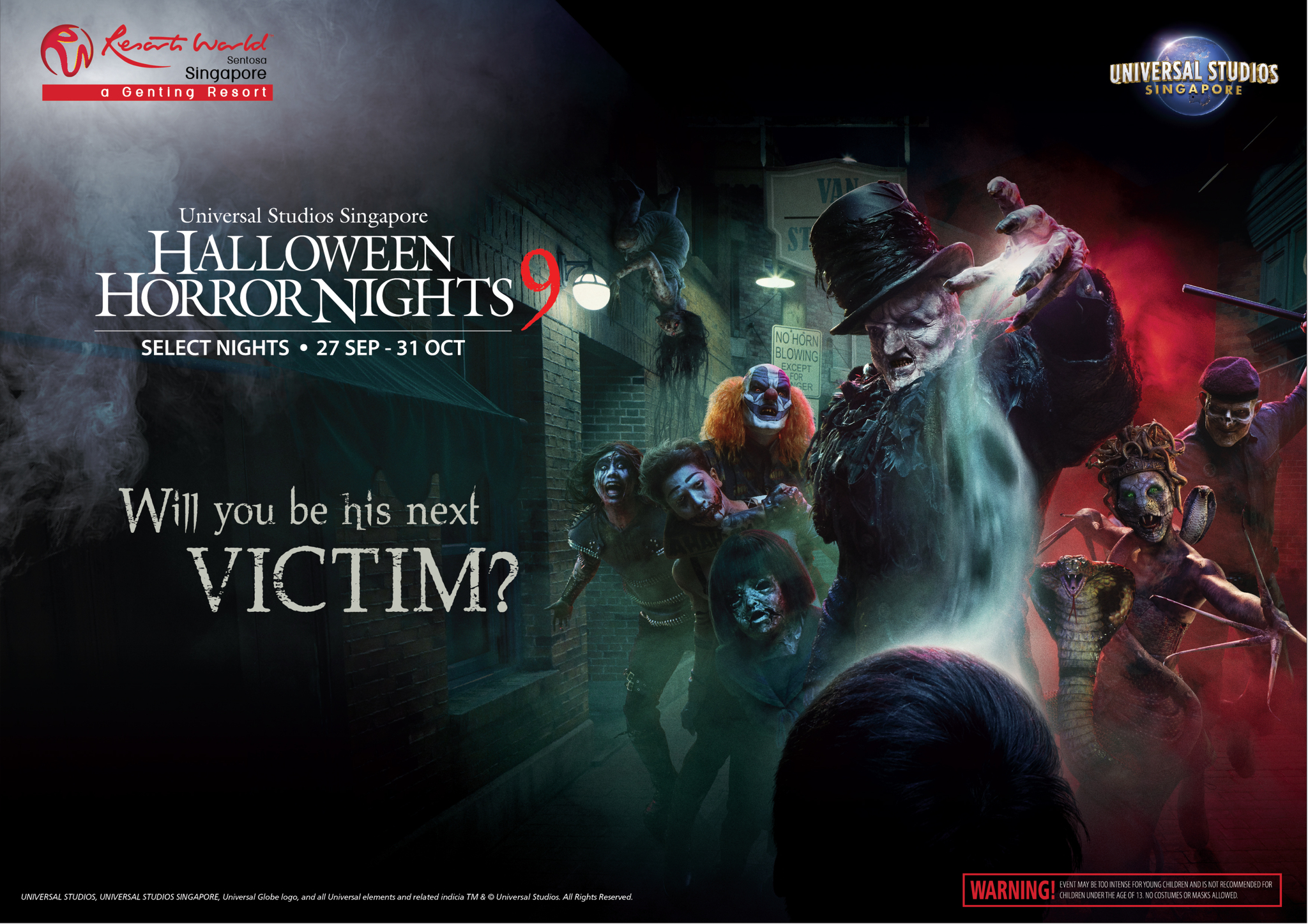 The poster for the annual HHN event organised by USS