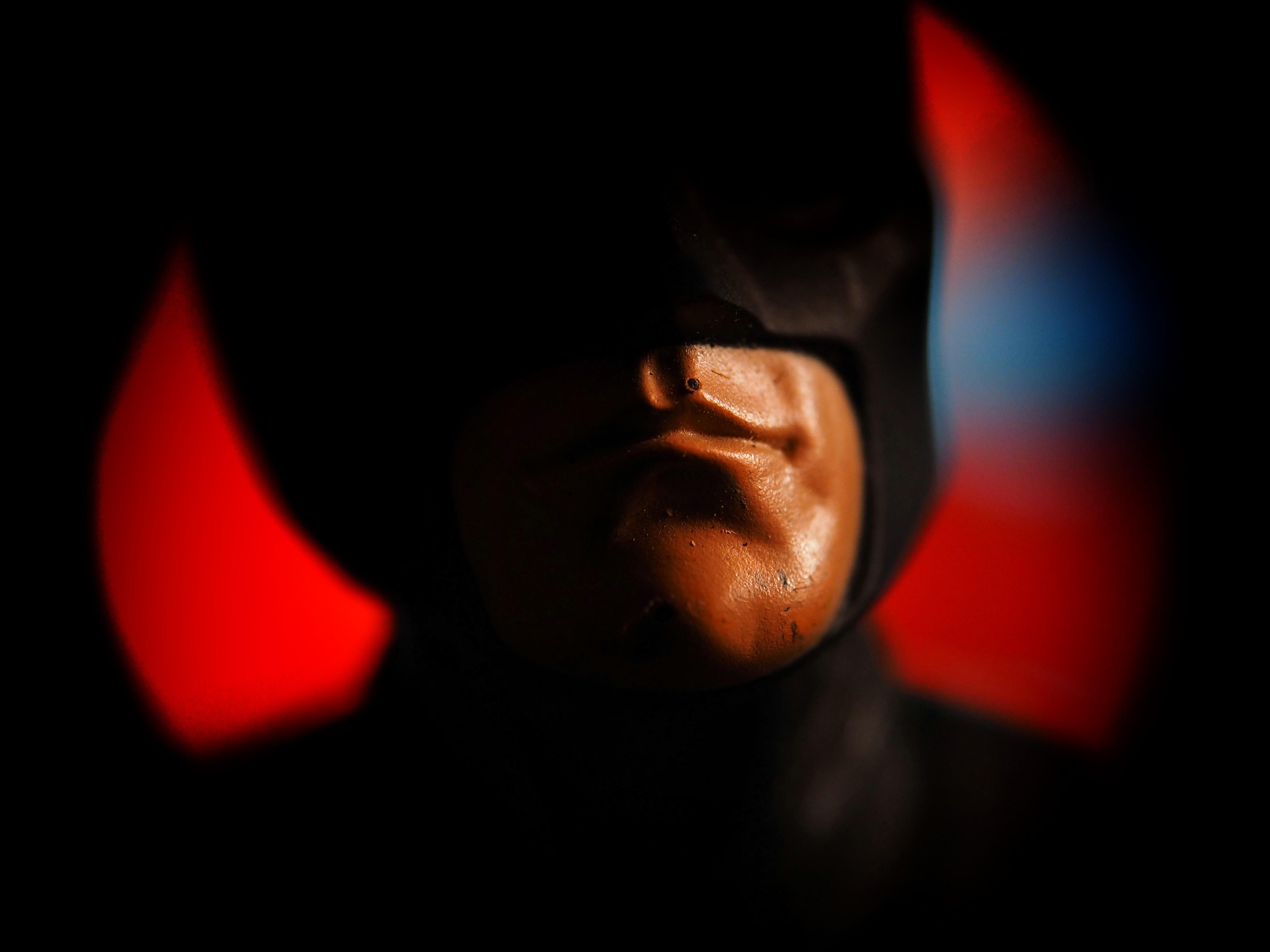 Close-up image of a Batman figurine