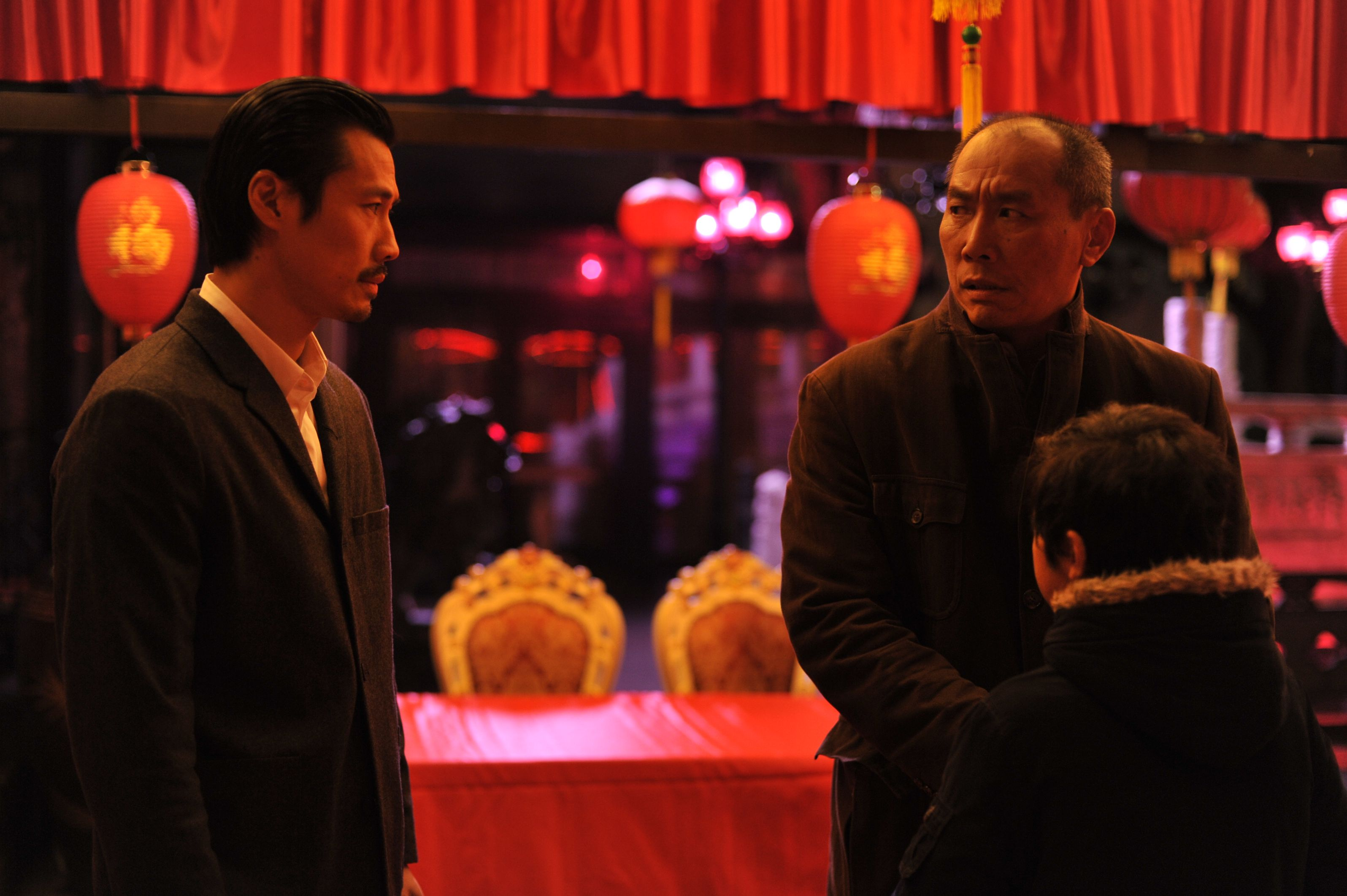French Film Festival 19', 'Made In China': François trying to speak to his father his cousin's wedding.