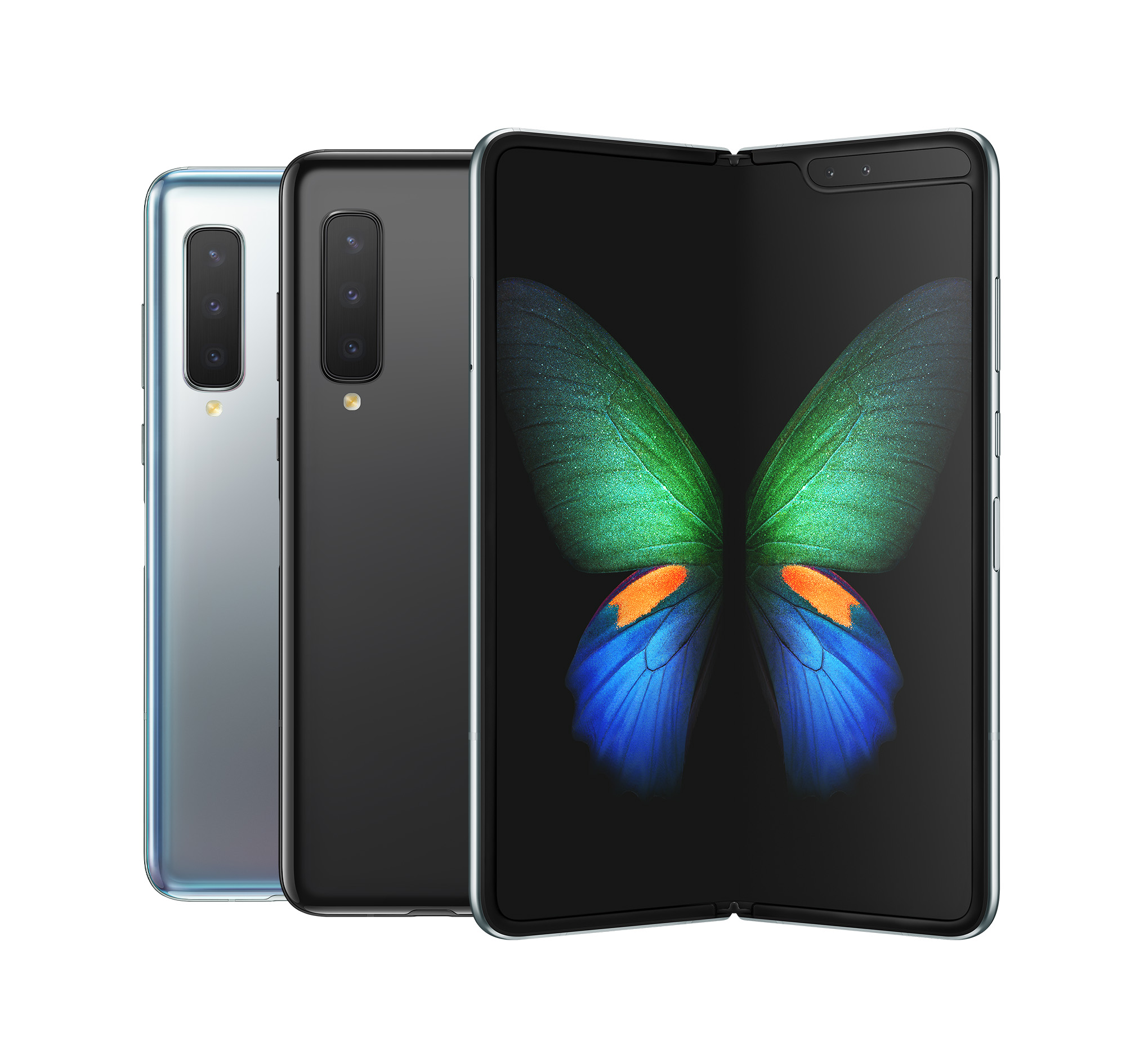 The Samsung Galaxy Fold comes in two colours: Space Silver and Cosmos Black.