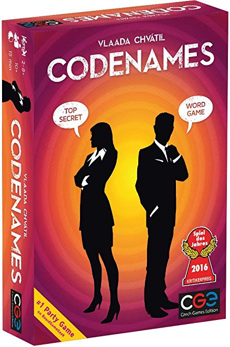 Codenames, the award winning board game.