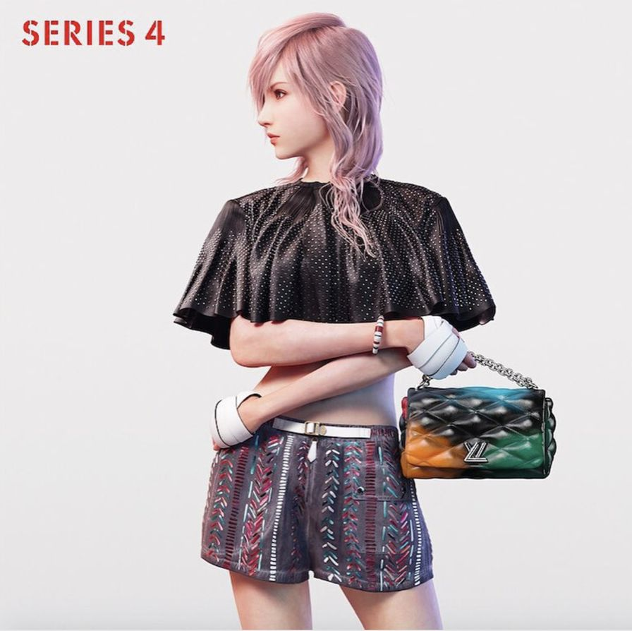 Lightning, the poster girl for LV's 2016 collection