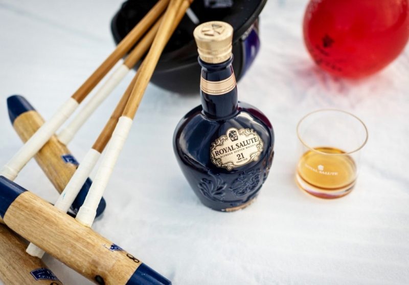 Keeping warm with drams of Royal Salute Snow Polo Edition
