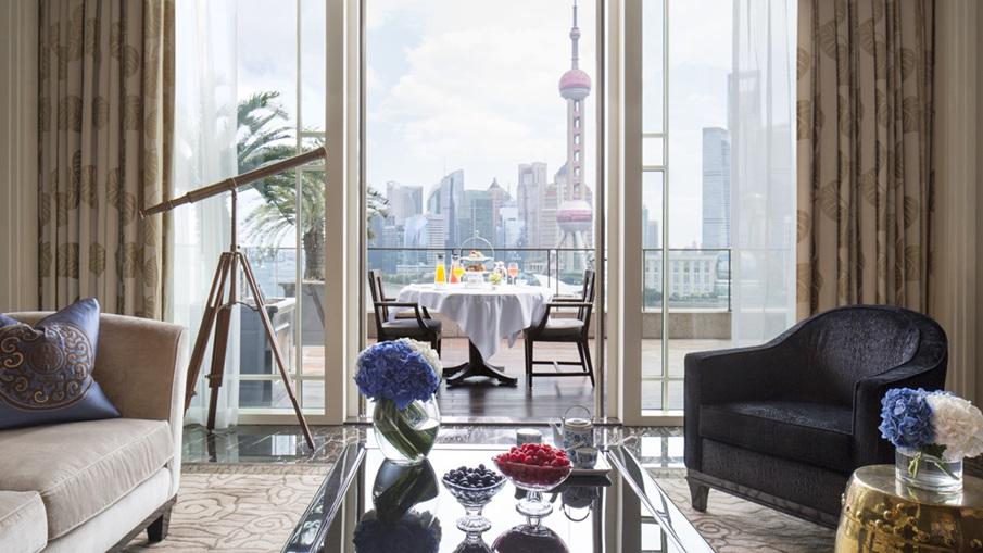 Shanghai: The interior of Peninsula Shanghai.