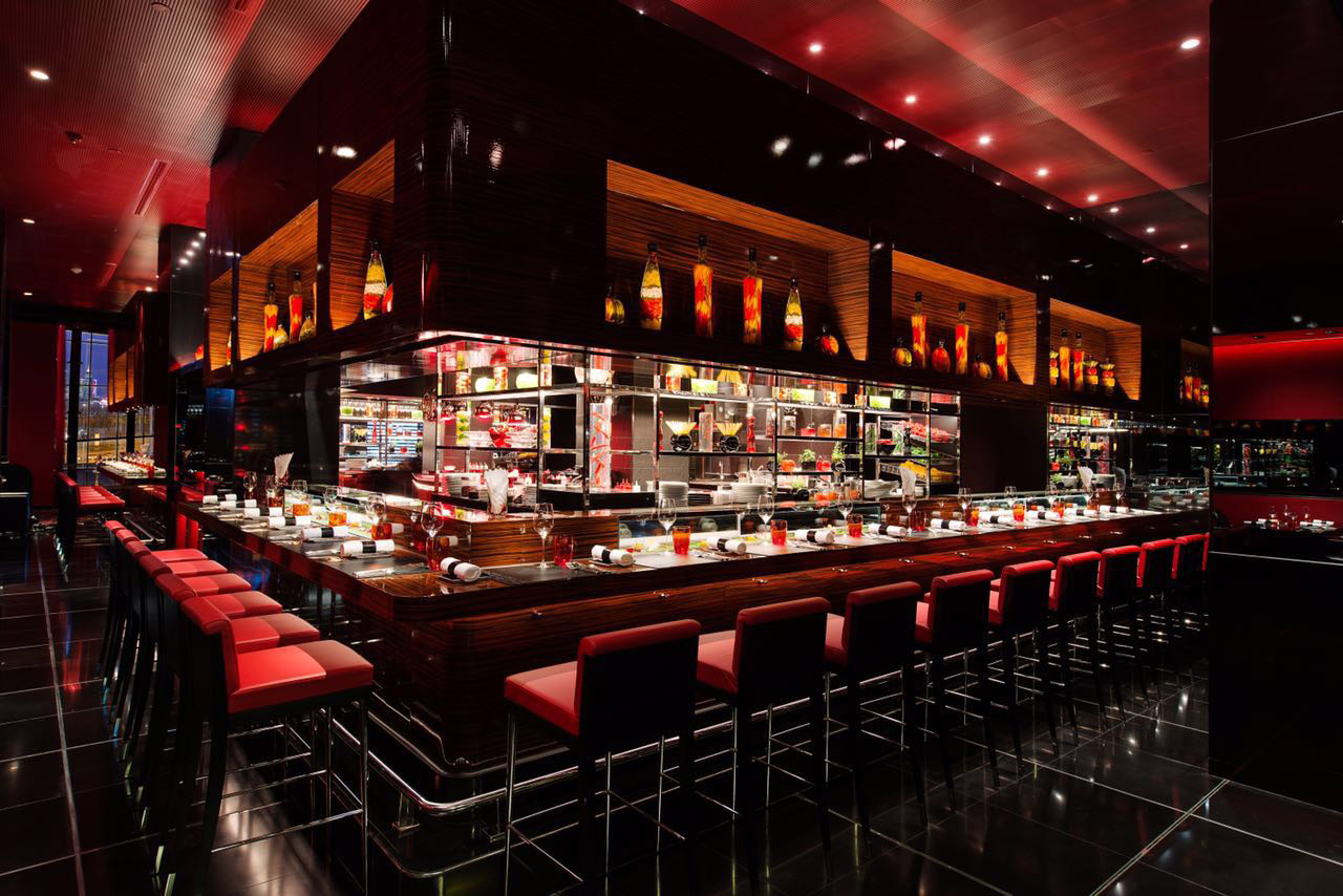 Shanghai: The interior of Joël Robuchon.