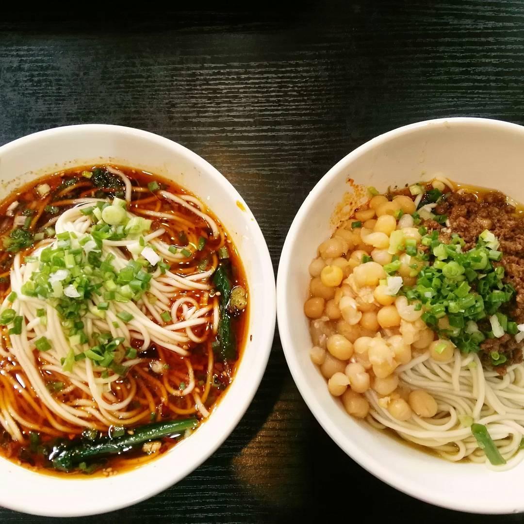 Chongqing: Two bowls of Qinyun Laotaipo Tantan noodles.