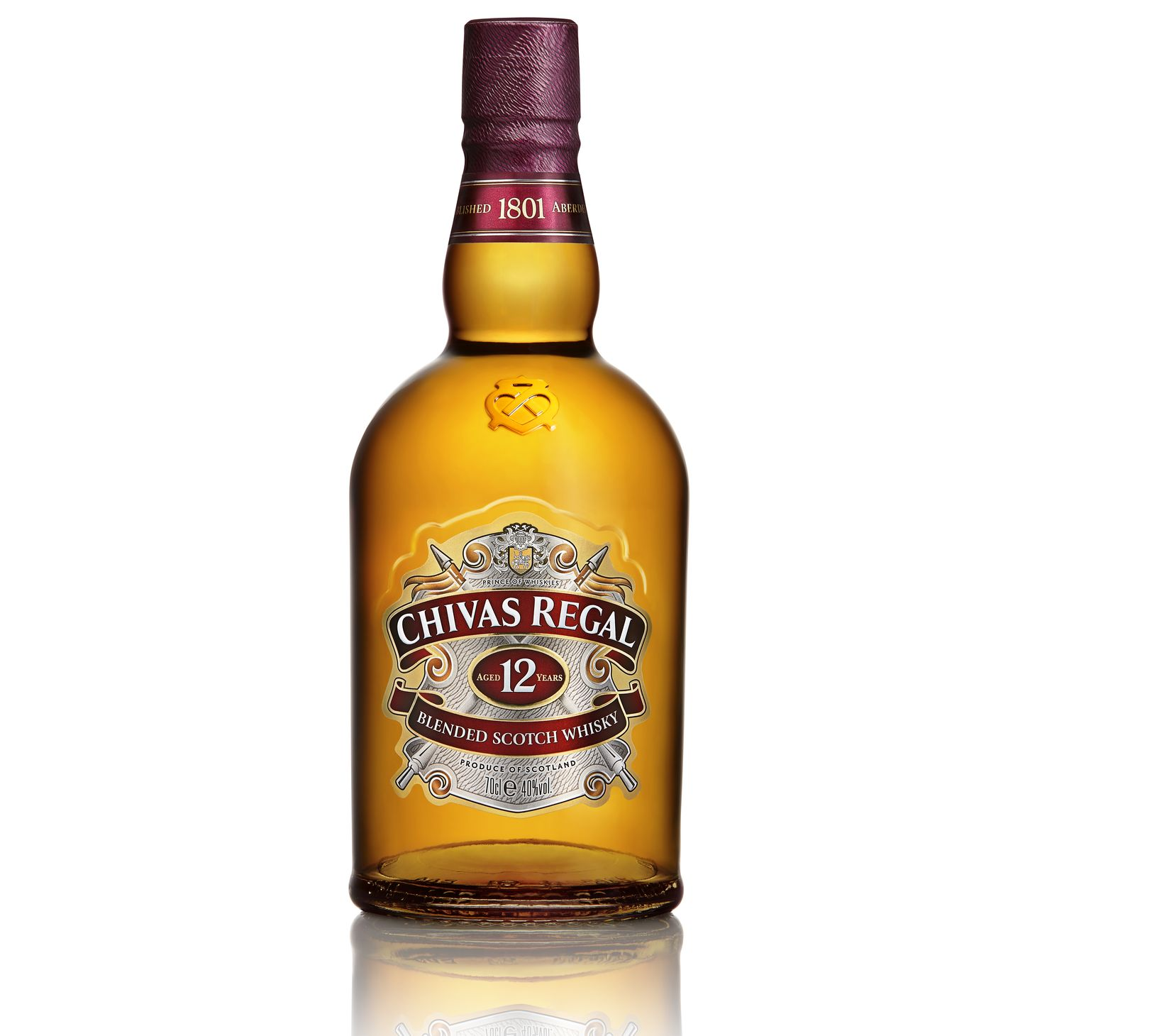 A bottle of a classic Chivas Regal 12