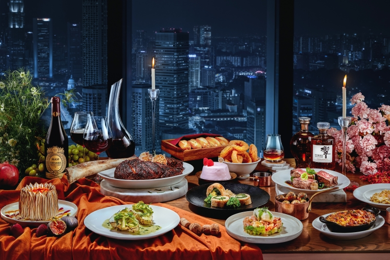 Andaz festive feast with a great view