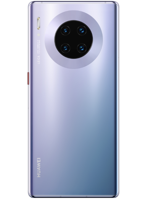 The rear end of the Mate 30, featuring its 4 cameras