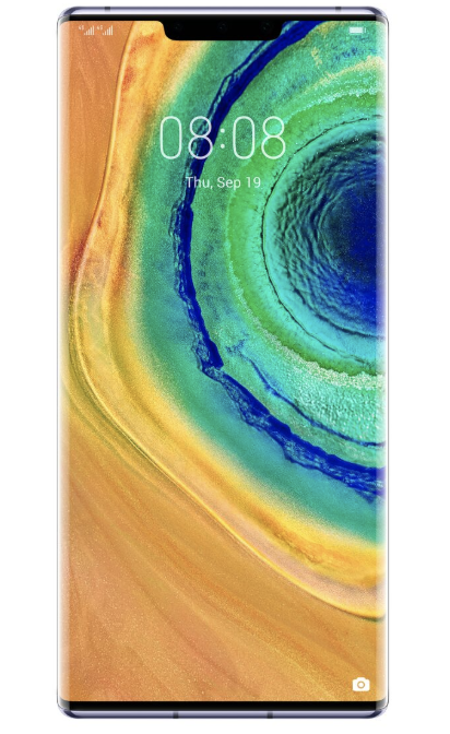 The bezel-less front of the Huawei Mate 30