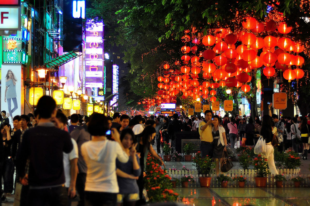 Guangzhou travel guide Beijing Road Pedestrian Street
